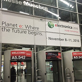 2016 electronic exhibition of Munich, Germany.